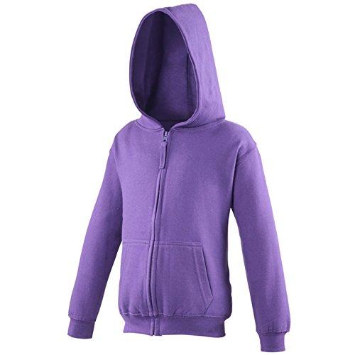 AWDis -  Felpa con cappuccio  - Uomo Purple