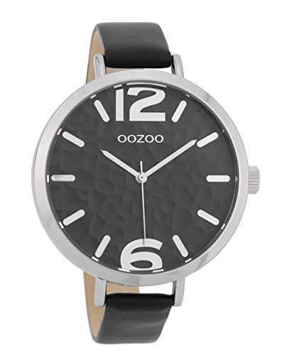 Oozoo Damenuhr mit Lederband 45 MM Schwarz/Schwarz C9714