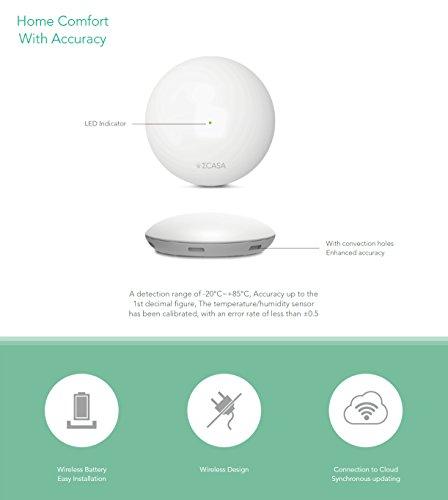 Sigma Casa Smart Weather Sensor – aktuelle Wetter-Daten Temperatur, Luftfeuchte und Luftdruck, Übermittlung durch Smart-Home Haus-Automatisierung auf Smartphone oder Tablet via Bluetooth - 8