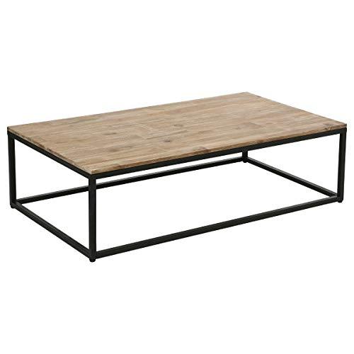Table basse de salon en bois et métal - Style industriel, Vintage et Atelier
