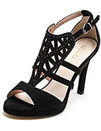 Obsel: Scarpe&Scarpe - Sandalias Altas con Estrás y Grabado Láser, con Tacones 10 cm