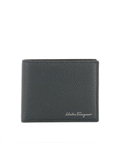 Salvatore Ferragamo Herren 0677895 Grau Leder Brieftaschen (Ferragamo Herren Brieftaschen)