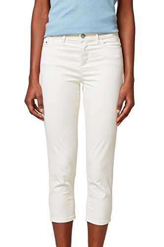ESPRIT Damen Hose 038EE1B013, Weiß (Off White 110), 36