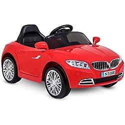 LT861 Coche eléctrico para niños Crazy puertas automáticas y 3 velocidades - Rojo