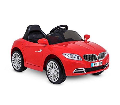 Coche eléctrico para niños Crazy puertas automáticas y 3 velocidades - Rojo
