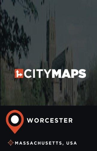 City Maps Worcester Massachusetts, USA