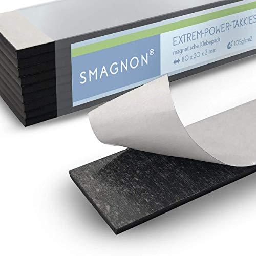 Eisenfolie Ferrofolie Weiß Matt selbstklebend 620mm x 100mm x 0,6mm selbstkleb