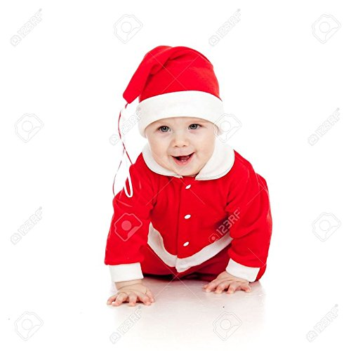 Mobison Santa Claus Costume for Kids (6 Months- 1 Year) - Santa Claus Dress for Kids for Christmas