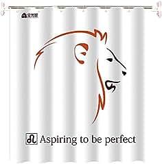BAOYOUNI novedad poliéster cortina de ducha de baño tela decorativa  suministros de baño con 12 ganchos 90c1bd16977b