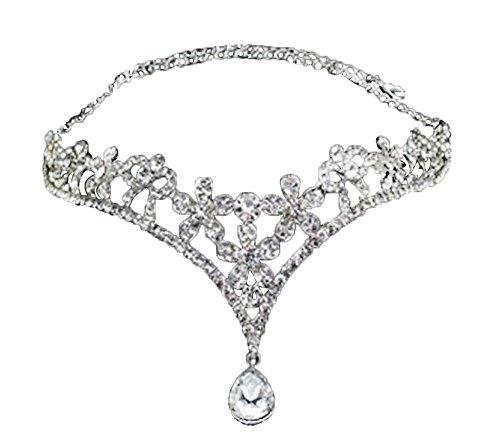 Huyizhi Hochzeit Braut Kopfschmuck Herz Strass Kristall Krone Tiara Prinzessin Frauen Mädchen Stirnband