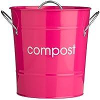 Premier Housewares 0510024 Compostiera in Acciaio Zincato, Fuchsia