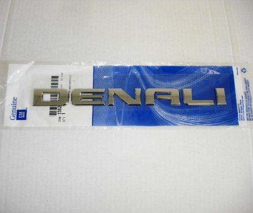 2007-2012-gmc-sierra-yukon-denali-nameplate-emblem-chrome-genuine-gm-oem-new-by-general-motors