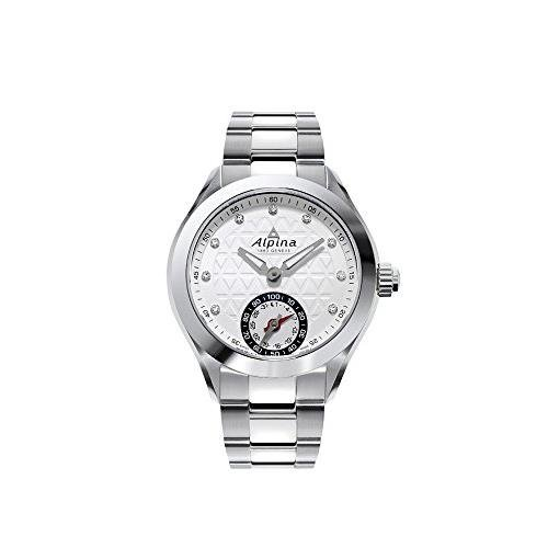 Alpina Damen-Armbanduhr 39MM Armband Edelstahl + GEHÄUSE Quarz AL-285STD3C6B