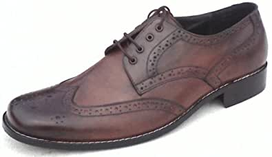 Mens 100% Genuine Leather Oxford style Brogue shoes for party and formal wear