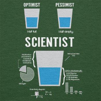 NERDO Optimist Pessimist Scientist - Herren T-Shirt Flaschengrün