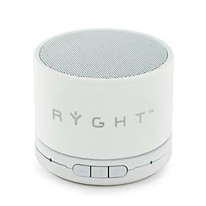 Ryght Y-Storm R481337 Enceinte Bluetooth (technologie sans fil)/légère/puissance 3W avec port /longue autonomie avec câble jack de 3.5mm et câble USB/compatible avec smartphone/tablette/IPad/ordinateur/lecteur MP3 Blanc