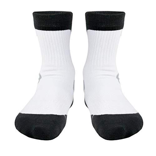 BoburyL Männer Jungen Basketball Socken Dicke Schutz Sport Kissen Compression Sport Crew Socken (Athletische Socken Jungen)
