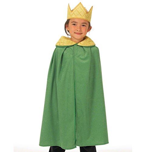 Green King Or Queen Cloak Cape One Size Fancy (Für Kinder Charlie Kostüme Crow)