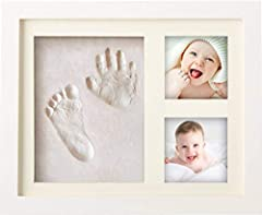 Idea Regalo - BraceTek Cornice Bambini Impronte Argilla, Kit Neonato Cornice per dei Piedini e delle Manine dei Bebé-Un ricordo di vita e regali ideali per i bimbo