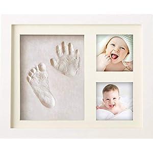 BraceTek – Kit de Marco Para Manos y Huellas de bebé para niño y niña – marcos de arcilla y madera – No se agrieta al…