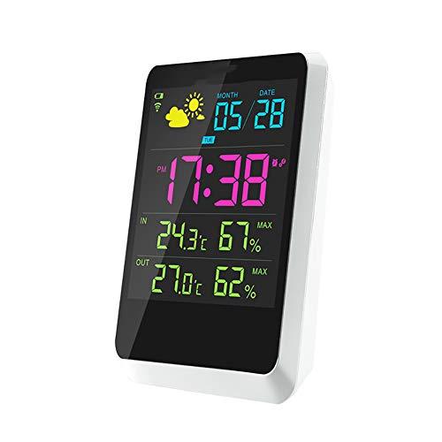 ZDYLM-Y Wetterstation Funk mit Außensensor Innen- und Außentemperaturanzeige Intelligent Wetter Uhr