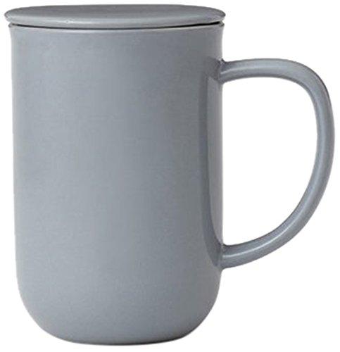 Viva Scandinavia Minima équilibre Tasse à thé (0.5L), Porcelaine, Bleu Gris, 13.2 x 9 x 14.2 cm