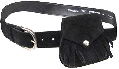 Modestone Western Women's Suede Purse/Belt Combo Black Scala Suede Cap