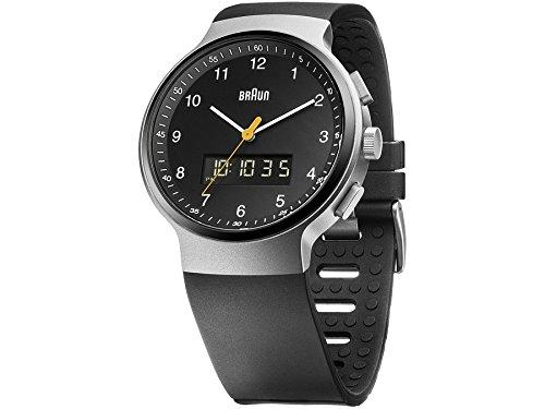 Braun BN0159SLBKBKG–Reloj de pulsera analógico unisex de cuarzo silicona 66562