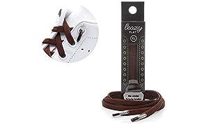 leazy flat Elastische Schnürsenkel – Das Flache, Flexible Schuhband zum Einhaken