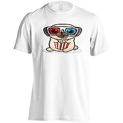 Divertido Popurrí Pug Bebé Camiseta de los hombres r801m