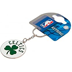 Boston Celtics Basketball NBA Keyring Keychain Metal Clover Crest Official