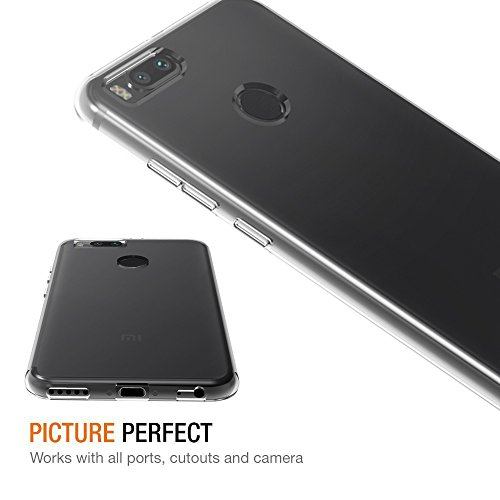 Funda Xiaomi Mi A1 / Xiaomi Mi 5X, iVoler Slim Fit Xiaomi Mi A1 / 5X Funda Carcasa Case Bumper con Absorción de Impactos y Anti-Arañazos Espalda Case Cover para Xiaomi Mi 5X / Xiaomi Mi A1 - Transparente