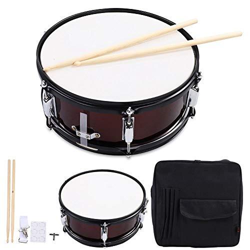 Percussion Snare Drum Set Drumstick Drum Key und Bag(Rotwein) -