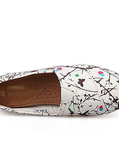 Chaussures Femmes Shangyi Corde Plat Confortable Mocassins Loisirs / Bureau Et De Travail / Casual Noir / Blanc Noir