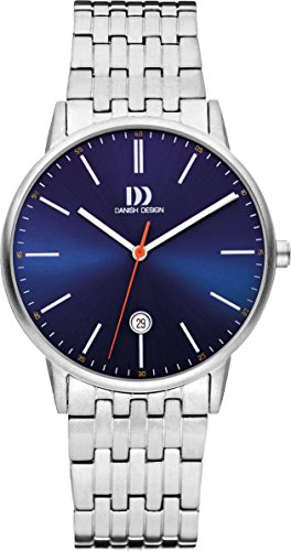 Danish Design Men's Quartz Watch with Blue Dial Analogue Display and Silver Stainless Steel Bracelet DZ120497