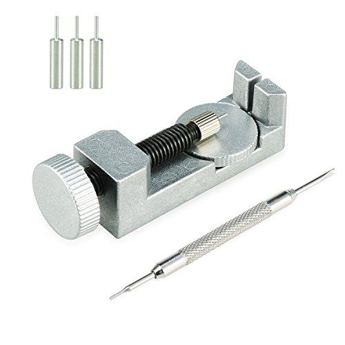 Yosemy Remover Kit de Réparation d'Outils pour changer la taille des bracelets montre en méta enlever les goupilles des mailles d'un bracelet de montre en acier 3 Pins Supplémentaires