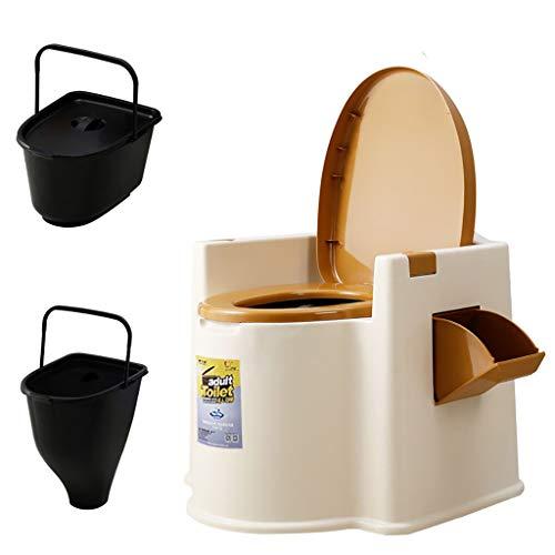 LIU UK Portable Toilet Toilette Mobile per WC Deodorante per La Casa Sgabello per WC con Braccioli Mobili per Donne Incinte Paziente Anziano con Base del Sedile E Tappetino Antiscivolo