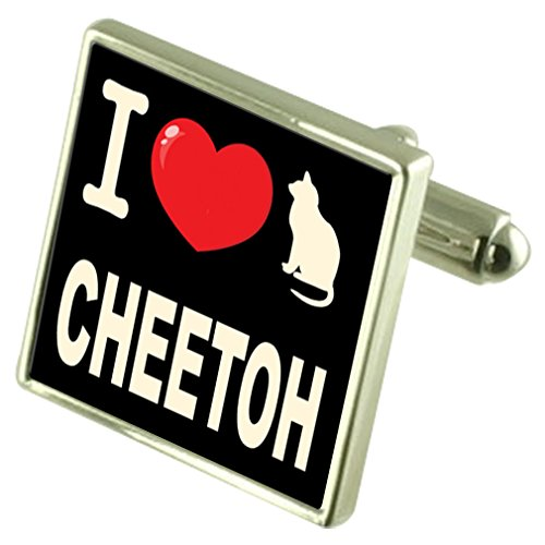 Select Gifts Ich liebe meine Katze Manschettenknöpfe Cheetoh - Cheetoh Katzen