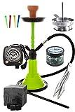 Kaya Neon SPN 480 Set Komplett mit E-Heater Shisha Kohle Kohlezange Einwegmundstücken Kaminaufsatz Einlegesieb und Dampfsteinen...