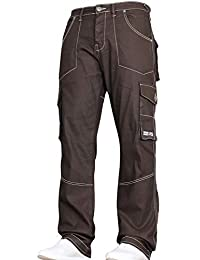 ef6b32e3109e New Mens Designer Heavy Duty Multi Pocket Dark Cargo Combat Denim Jeans  Pants All Waist and
