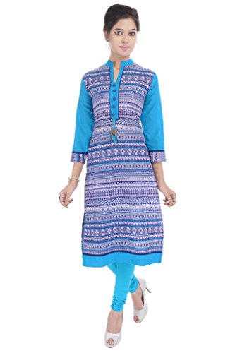 RAJMANDIRFABRICS-Womens-Cotton-Kurti-PK1015064Blue-M