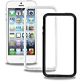BigBen BUMPERDUOIP64 Pack de 2 Bumpers pour iPhone 6 Noir/Transparent