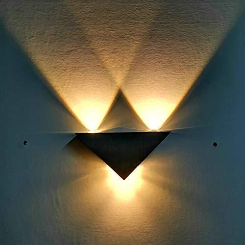 wandleuchten ecke Beleuchtet herauf weiße moderne Hallenkorridorbalkon Innen- und im Freien dreieckige Aluminiumwandleuchte 3wBeleuchtung -