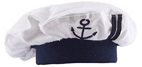 Mütze (Weiß) (Halloween Matrose Hut)