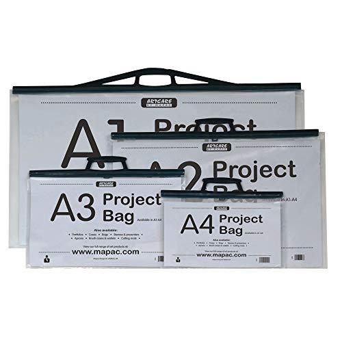 Artcare Künstlermappe (1565300085x 10x 64cm A1Synthetik Material Projekt Tasche mit Karte einfügen, transparent -