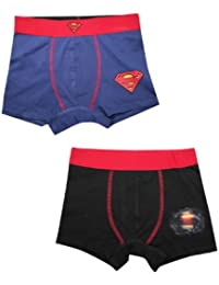 (Pack of 2) Superman(Man of Steel) garçons Meilleurs boxers
