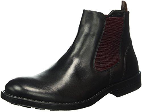 camel active Herren Taylor 14 Chelsea Boots Schwarz (black (bordo) 02)