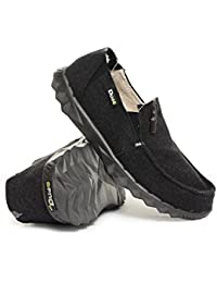 Dude Shoes Piel Forrado Farty Chalet Fieltro Negro