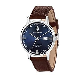 Reloj para Hombre, Colección Eleganza Maserati, Movimiento de Cuarzo, Solo Tiempo con Fecha, en Acero y Cuero – R8851130003