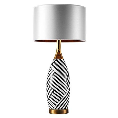 LZ-SNAIL Schreibtischlampe für Wohnzimmer Tischlampe Nachttischlampe Licht Zebra-Muster Abschnitt Modern Minimalist [Effizienzklasse : A +] -